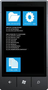 Windows Phone Capability Detection Tool UI